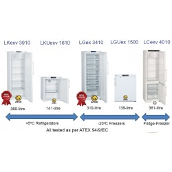 Liebherr Spark-free Laboratory Refrigerators and Freezers with Electronic Control