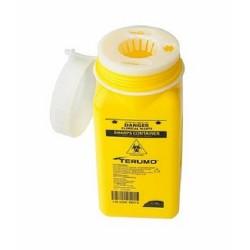 Terumo 1.4L Yellow Bio-Hazard Sharps Container with Screw Lid