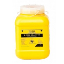Terumo 3L Yellow Bio-Hazard Sharps Container with Screw Lid