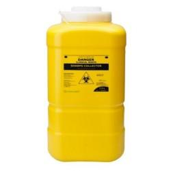 Terumo 19L Yellow Bio-Hazard Sharps Container with Screw Lid , each