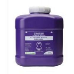 Terumo 10L Purple Cytotoxic Bio-Hazard Sharps Container with Screw Lid