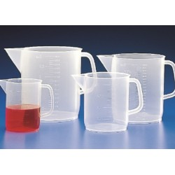 Kartell 5L jug with handle, PP Plastic, 250 ml Grad. Div.