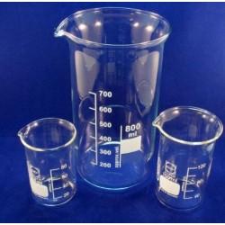 Labco Beaker, Tall Form, Borosilicate glass, white enamel grad, 600mL