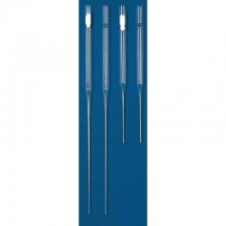 Hirschmann Universal 229mm Glass Pasteur Pipettes, cotton plugged, ctn/1,000