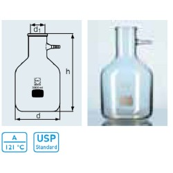 DURAN® 10L Filtering flasks, Bottle shape, with glass hose connection, for vacuum use
