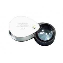 Technos Magnifier, Pocket, Folding, 20mm d Lens, Magnification, 10x