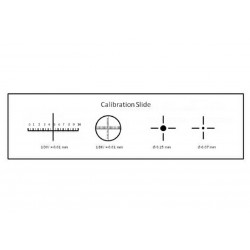 Stage Micrometer Calibration Slide w/ 4-Scales for Microscopes