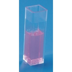 Kartell Cuvette Vis, polystyrene with 4 clear faces (Dim. Ext. 12x12x45mm), Optical pathway 10mm, max vol 4mL, ctn/100