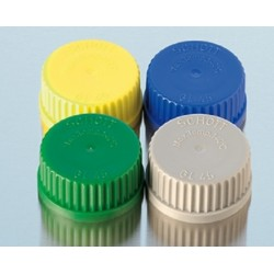 Schott Yellow Screw Cap for Reagent Bottles with GL45 thread, pkt/10