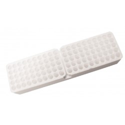 Sartstedt Styrofoam containers without lid, (390Wx80Lx50H)mm, 5x20 hole format x 11.5mmd holes, holds 100 tubes