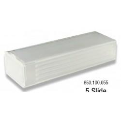 LABCO 5 Place plastic mailer, opaque, break resistant, suits 76x25mm slides, pkt/100