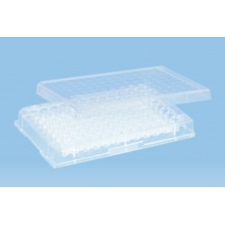 Sarstedt 96 well micro test plates, with lid, sterile, pkt/50