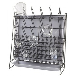 Heathrow Scientific Wire Drying Laboratory Rack, Self-standing or Wall Mountable + Removal Drain Pan