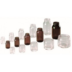 LABCO Jar Glass Squat Amber 30mL, (46h x 41diam) mm, each