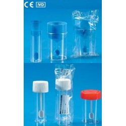 Kartell Plastic Sampling Containers with Screw Cap & Plastic Spoon