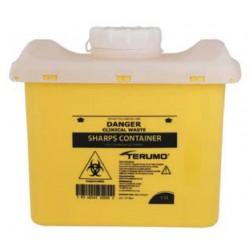 Terumo 11L Yellow Bio-Hazard Sharps Container with Screw Lid (365w x 190d x 305h)mm, each