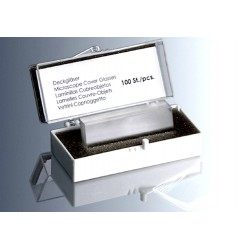 Marienfeld Cover Slip, 22x 60mm, Thickness No. 1 (0.13 - 0.16mm), Borosilicate Glass 3.3, pkt/100